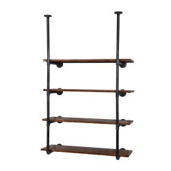 Artiss Wall Display Shelves Industrial Bookshelf DIY Pipe Shelf Rustic Brackets