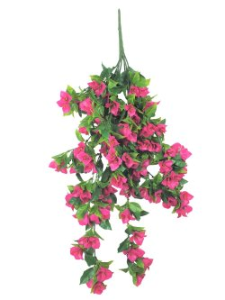 Hanging Artificial Bougainvillea Plant (Pink / Lilac) UV Resistant 90cm