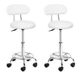 Artiss set of 2 Salon Stool Swivel Barber Chair Backrest Hairdressing Hydraulic Height