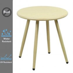 Niana Modern Minimalist Natural Aluminum Side Table