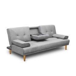 Artiss 3 Seater Fabric Sofa Bed - Grey