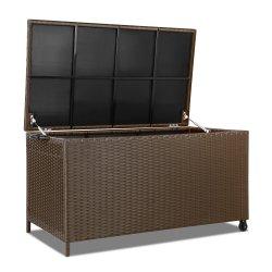 Gardeon 320L Outdoor Wicker Storage Box - Brown