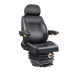 Giantz Adjustbale Tractor Seat with Suspension - Black