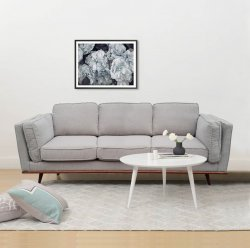York Sofa 3 Seater Beige