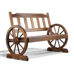 Gardeon Wooden Wagon Wheel Chair
