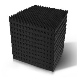 60pcs Studio Acoustic Foam Sound Absorption Proofing Panels 50x50cm Black Eggshell
