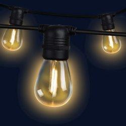 Jingle Jollys 50m LED Festoon String Lights 50 Bulbs Kits Wedding Party Christmas S14
