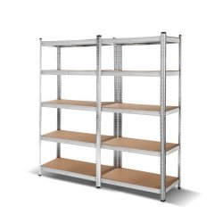 Giantz 2x0.9M Warehouse Shelving Racking Storage Garage Steel Metal Shelves Rack