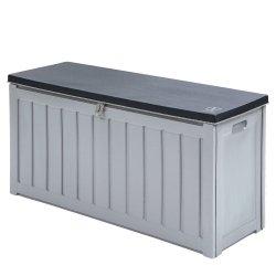 Gardeon Outdoor Storage Box Bench Seat Lockable 240L