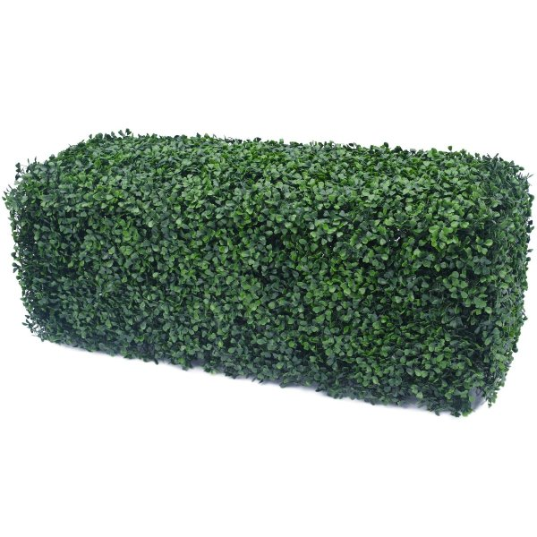 Portable Boxwood Hedge UV Resistant 25cm High 100cm Long