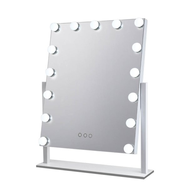 Embellir Makeup Mirror With Lighted 15 LED Standing Lights Hollywood Vanity White
