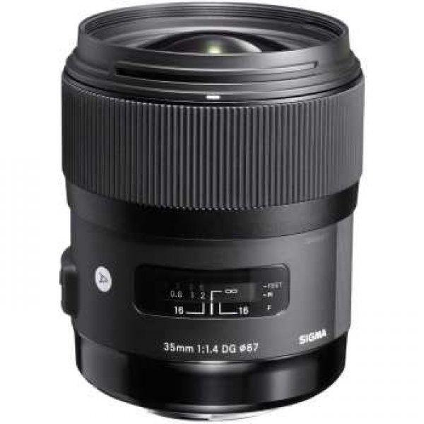 لنز سیگما مدل 35mm f1.4 DG HSM Art مناسب برای دوربین های نیکون
