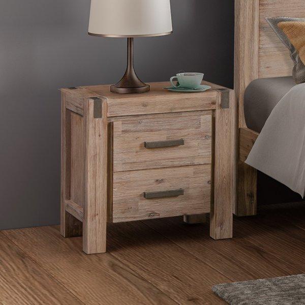 Java Bedside Table Oak
