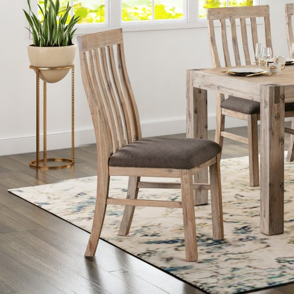 2x Java Dining Chair Oak