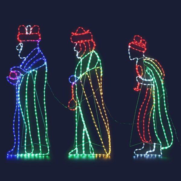 Jingle Jollys Christmas Motif Lights LED Saint Waterproof Colourful Outdoor Xmas