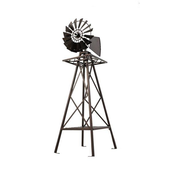 Garden Windmill 120cm Metal Ornaments Outdoor Decor Ornamental Wind Mill
