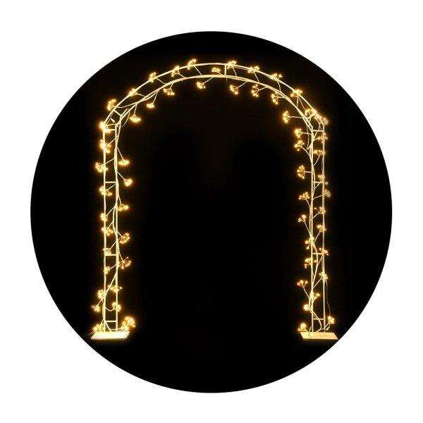 Jingle Jollys Christmas Motif Lights LED Metal Archway Waterproof Outdoor Xmas