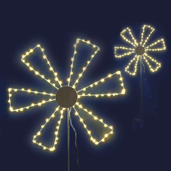 Jingle Jollys Christmas Motif Lights LED Spinner Windmill Waterproof Outdoor