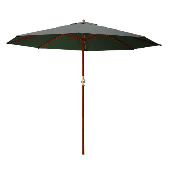 Instahut Umbrella Outdoor Pole Umbrellas Stand Sun Beach Garden Deck Charcoal 3M
