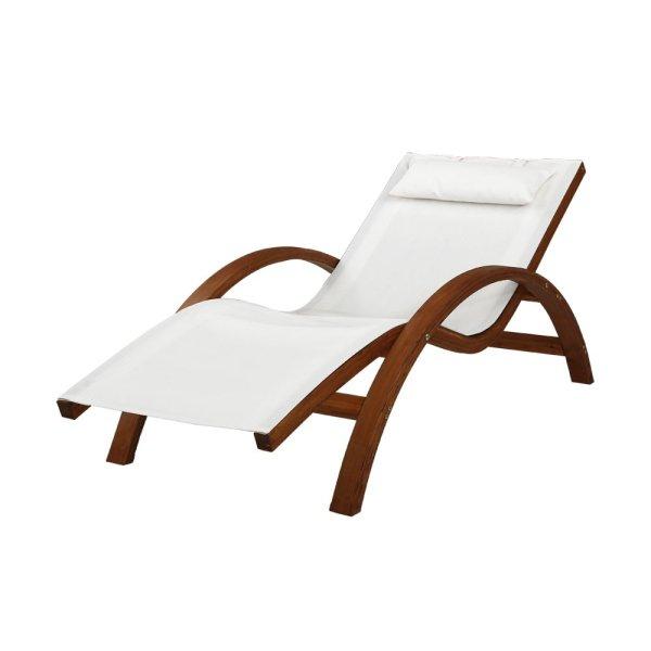 Gardeon Outdoor Wooden Sun Lounge Setting Day Bed Chair Garden Patio Furniture