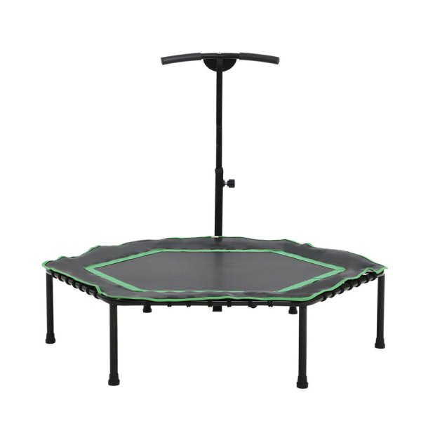 """Everfit 48"""" Mini Trampoline Rebounder Handrail Fitness Exercise Jogger Cardio Workout"""
