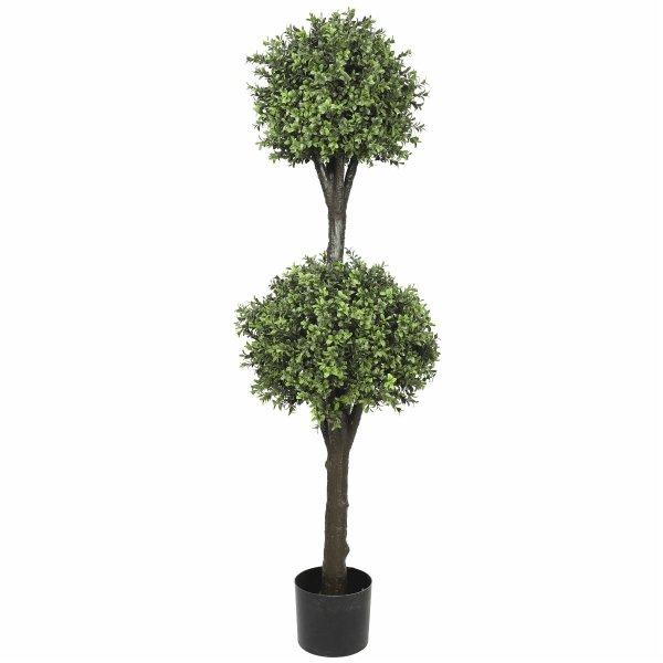 Artificial Topiary Tree (2 Ball Faux Topiary Shrub) 150cm High UV Resistant