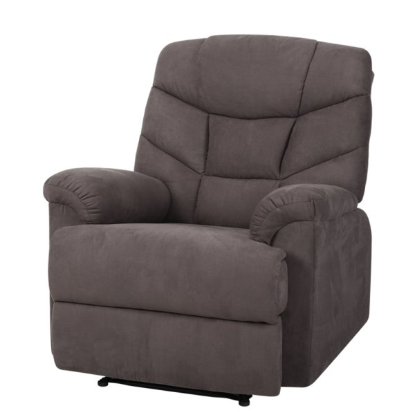 Artiss Recliner Chair Luxury Lounge Sofa Chairs Foam Padded Suede Fabric Armchair Couch Brown