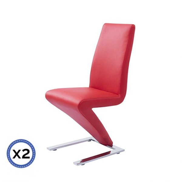 2 X Z Chair Red Colour