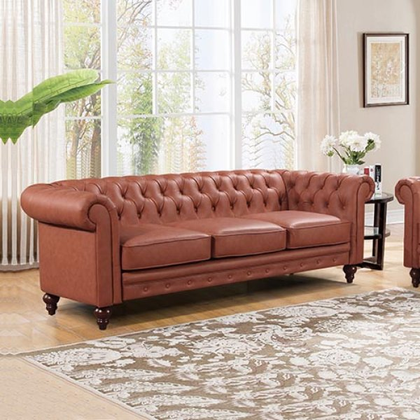 Madeline 3 Seater Brown