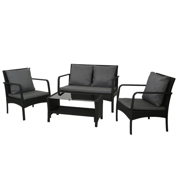 Gardeon Outdoor Furniture Lounge Table Chairs Garden Patio Wicker Sofa Set
