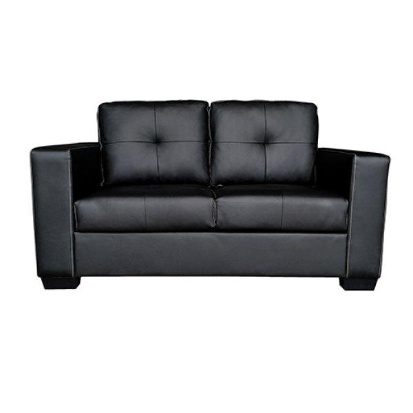 Nikki Sofa Black Colour 2 Seater PU Leather