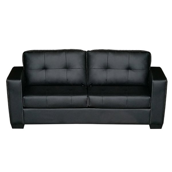 Nikki Sofa Black Colour 3 Seater PU Leather