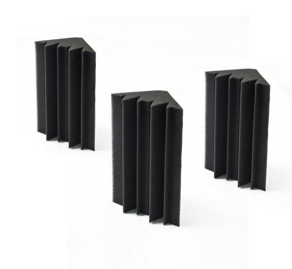 20pcs Studio Acoustic Foam Corner Bass Trap Sound Absorption Treatment Proofing
