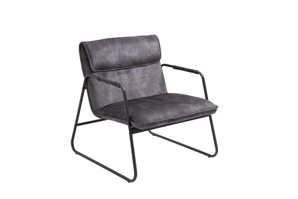 Linen Upholstered Armchair Lounge Chair with Sled Base