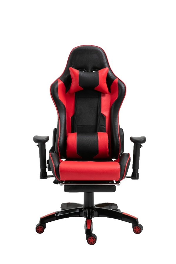 Gaming Chair Office Chair Computer PU Executive Recliner Back Footrest Armrest