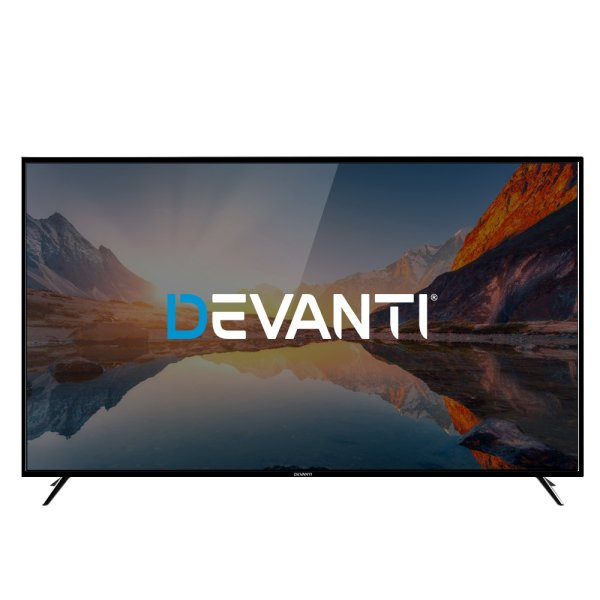 "Devanti LED TV Smart TV 75 Inch LCD 4K UHD HDR 75"" Television"
