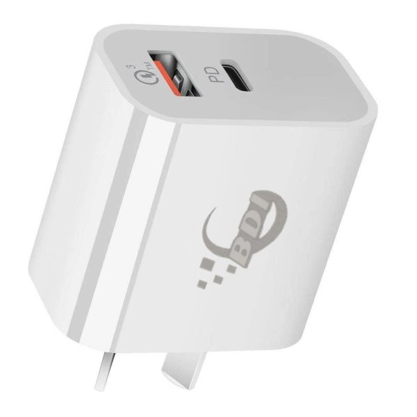 BDI 18W PD Quick Charger AU plug with USB and Type C Port  SDC-18WACB