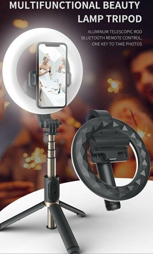 TEQ Q07 Bluetooth Ring Light Selfie Stick and Tripod stand