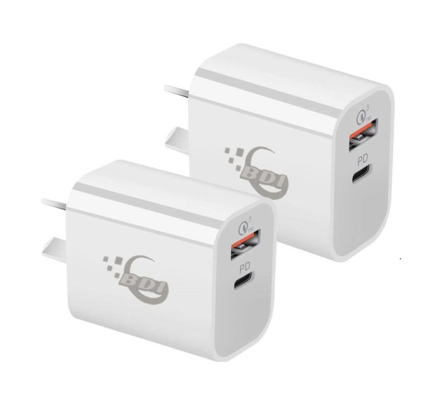 BDI 18W PD Quick Charger AU plug with USB and Type C Port  SDC-18WACB -2pack