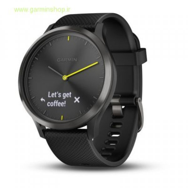 VivoMove HR Sport Black with Black Silicone Band - Large