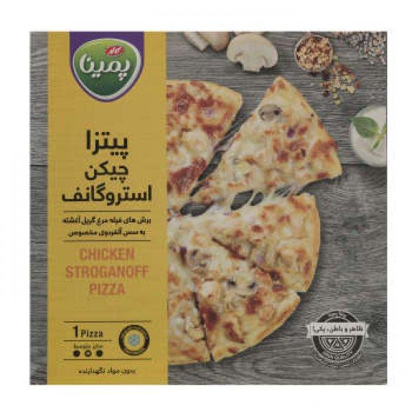 پیتزا چیکن استروگانف پمینا مقدار 360 گرم