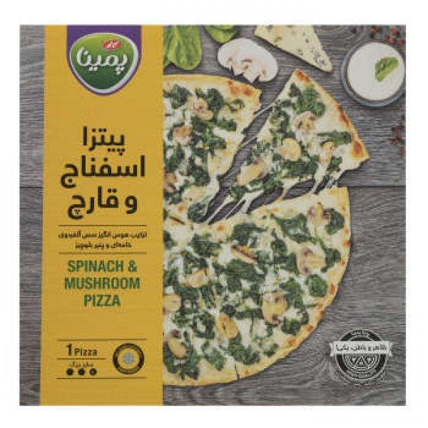 پیتزا اسفناج و قارچ پمینا مقدار 430 گرم