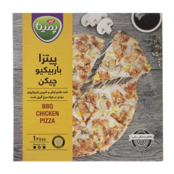 پیتزا باربیکیو چیکن پمینا مقدار 380 گرم