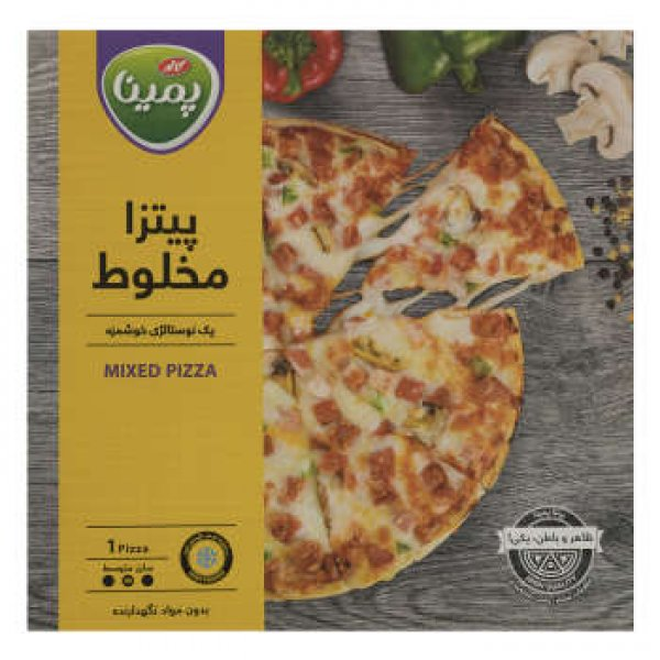 پیتزا مخلوط پمینا مقدار 360 گرم