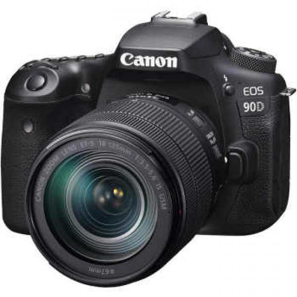 Canon 90DKIS Digital Camera - SLR Canon EOS 90D DSLR with EFS 18-55mm f/4-5.6mm STM Lens , Black (90DKIS)