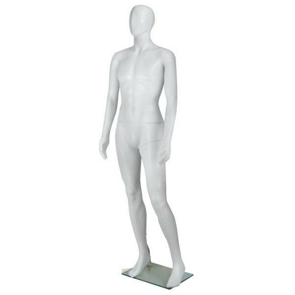186cm Tall Full Body Male Mannequin - White