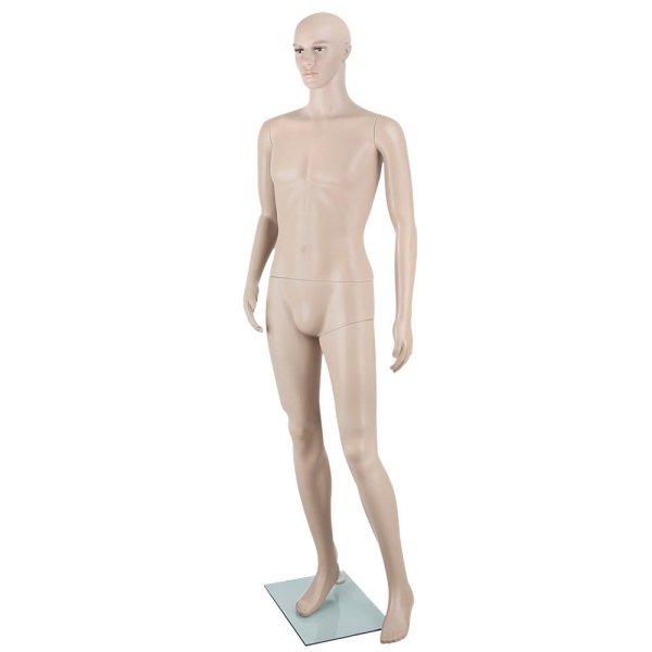 186cm Tall Full Body Male Mannequin - Skin Coloured