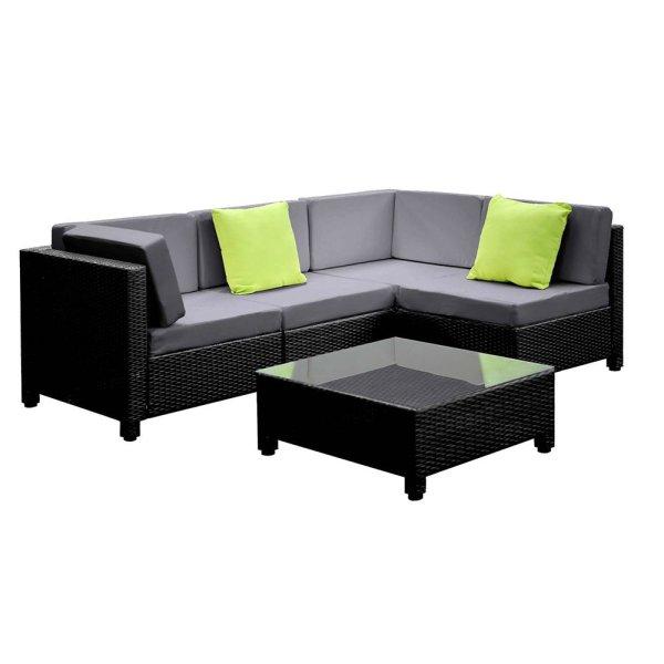 Gardeon 5PC Outdoor Furniture Sofa Set Lounge Setting Wicker Couches Garden Patio Pool