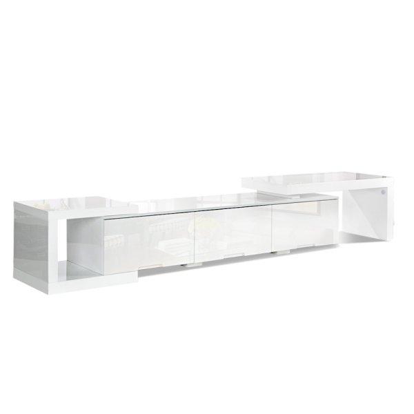 Artiss High Gloss Adjustable TV Stand Entertainment Unit - White