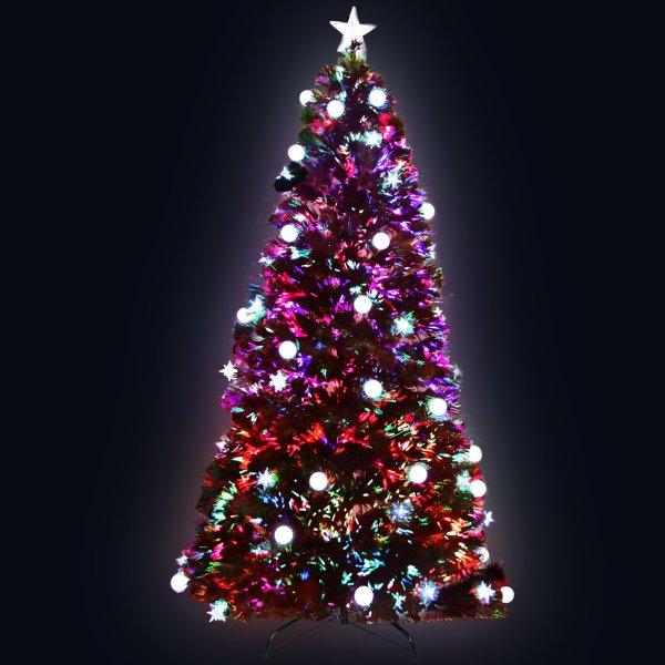 Jingle Jollys 1.8M 6FT LED Christmas Tree Optic Fiber Xmas Multi Colour Lights